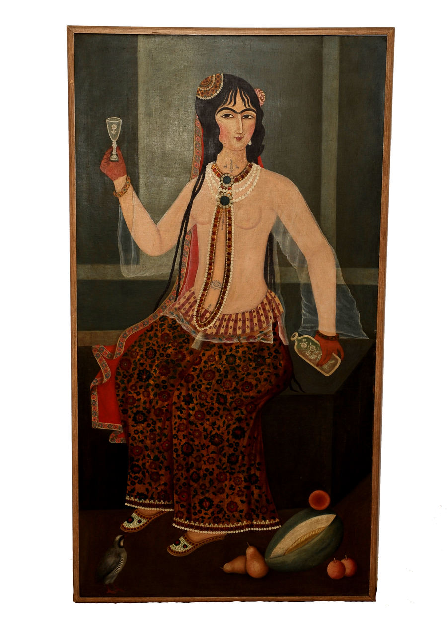 portrait of courtesan qajar lady