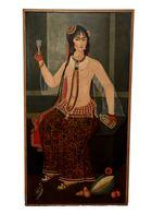portrait of courtesan qajar lady
